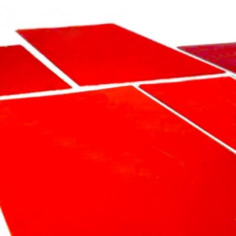 Clichés de tampographie en photopolymère rouge. Paquet de 10 clichés.
