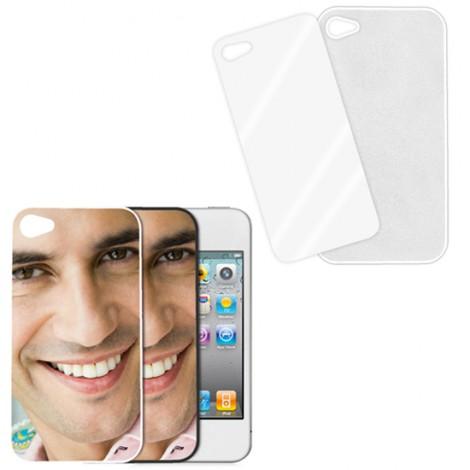 Cover bianca con piastrina stampabile - IPhone 4, 4 S