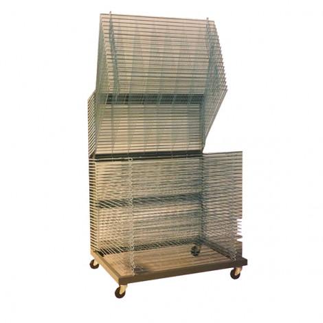 Rack de Séchage à Roulettes 50 Rayons 80x110 cm