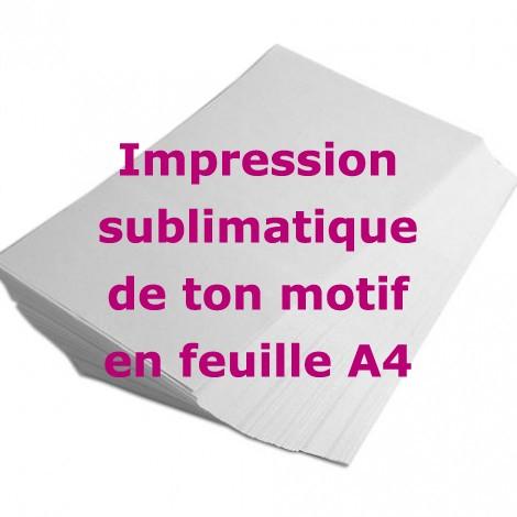 SERVICE D'IMPRESSION PAR SUBLIMATION - FORMAT A4