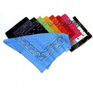 Bandana motif cachemire. Lot de 10 articles.