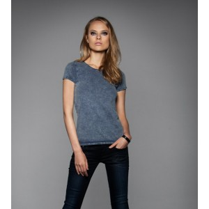 TEE-SHIRT FEMME À MANCHES COURTES. B&C DNM EDITING WOMEN. RAW BLUE. LOT DE 5 ARTICLES