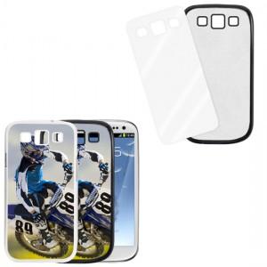 Cover nera con piastrina stampabile - Samsung Galaxy S3